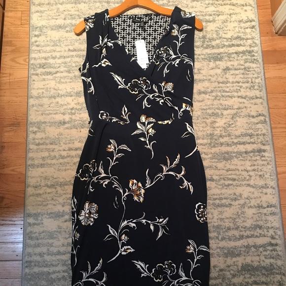 c80d0e29 White House Black Market Dresses | Whbm Faux Wrap Reversible Dress ...